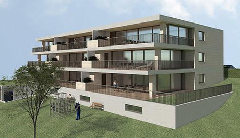 Wettbewerb Terrassen- wohnungen